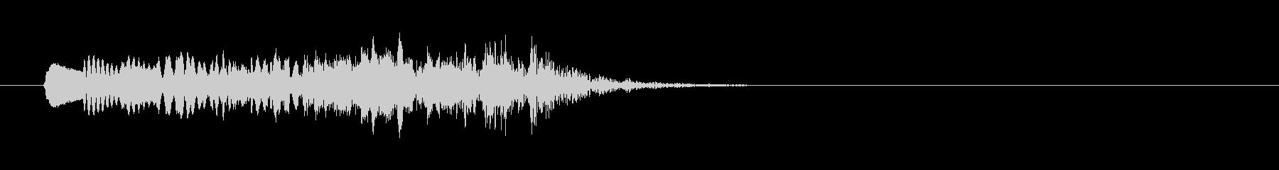 漫画ピアノグリスダウンの未再生の波形