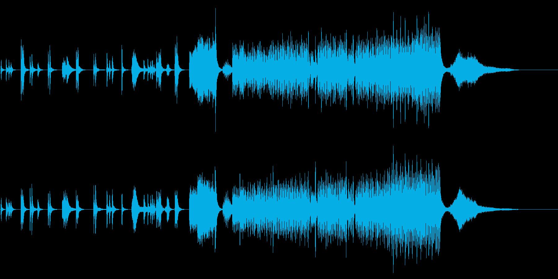 トムとジェリー風のバトル&コミカル音楽の再生済みの波形