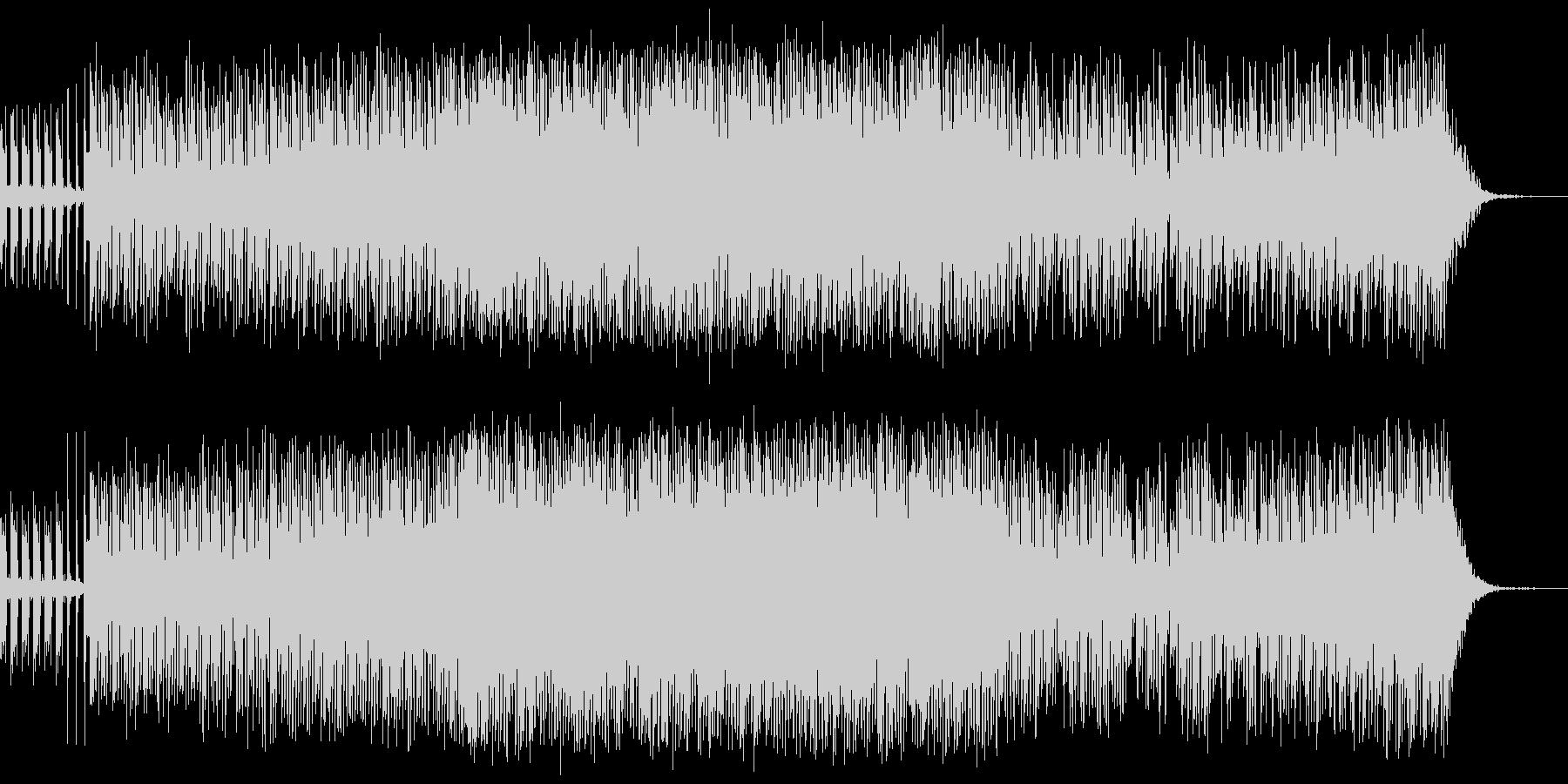 ノリが良くて楽しくカッコいいエレクトロ曲の未再生の波形