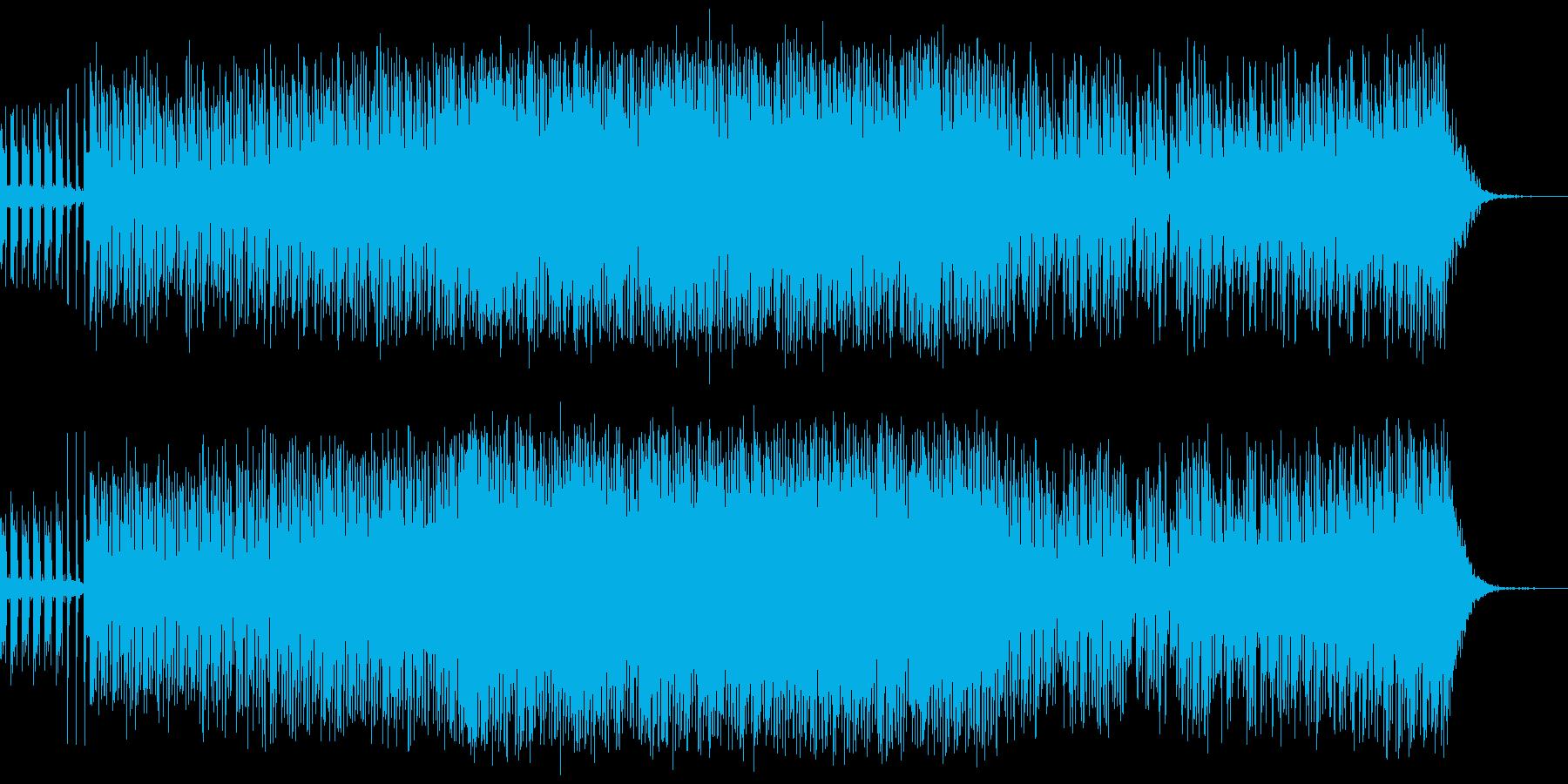 ノリが良くて楽しくカッコいいエレクトロ曲の再生済みの波形