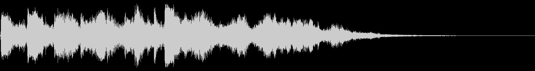 ドラムとエレピのジャズジングルの未再生の波形