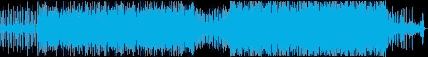 ゲーム、アプリにダークな雰囲気のEDMの再生済みの波形