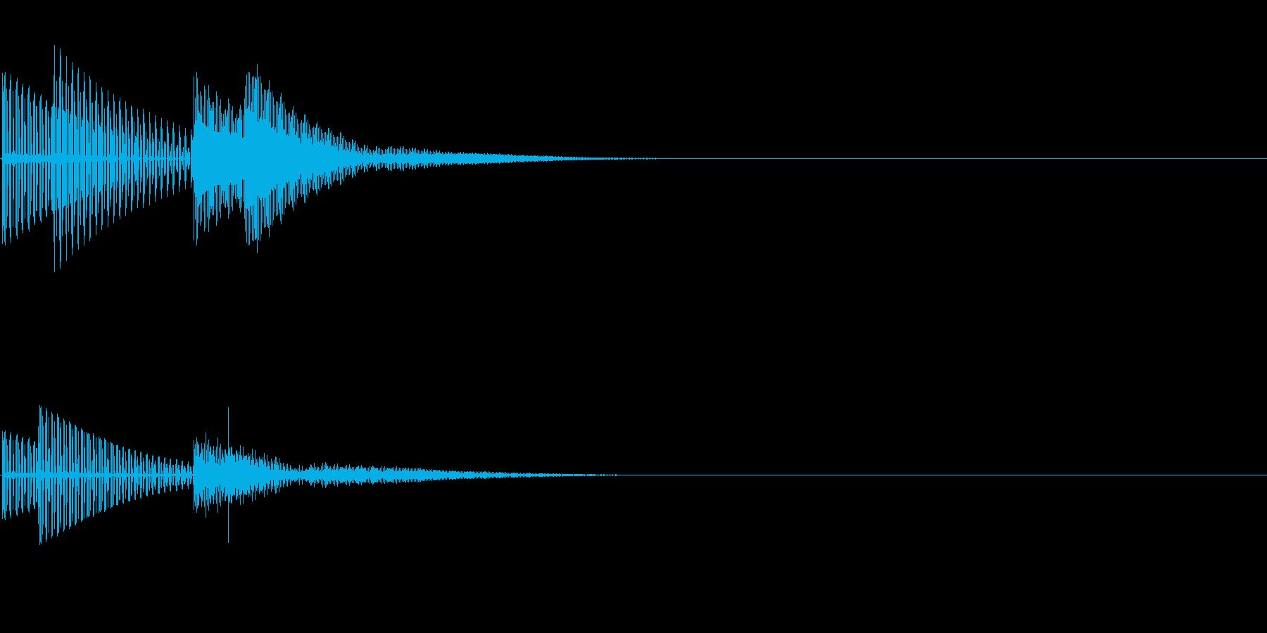 ティコ(クリック_選択決定_02)の再生済みの波形