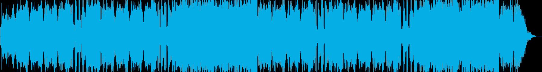 弦楽四重奏+ハープの優雅で穏やかな曲の再生済みの波形