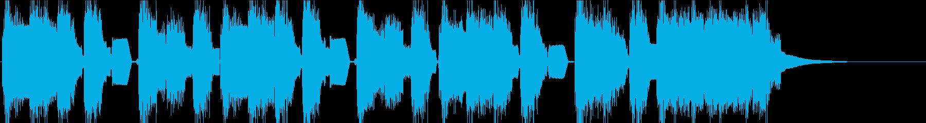 カワイイ チップチューン風ジングルの再生済みの波形