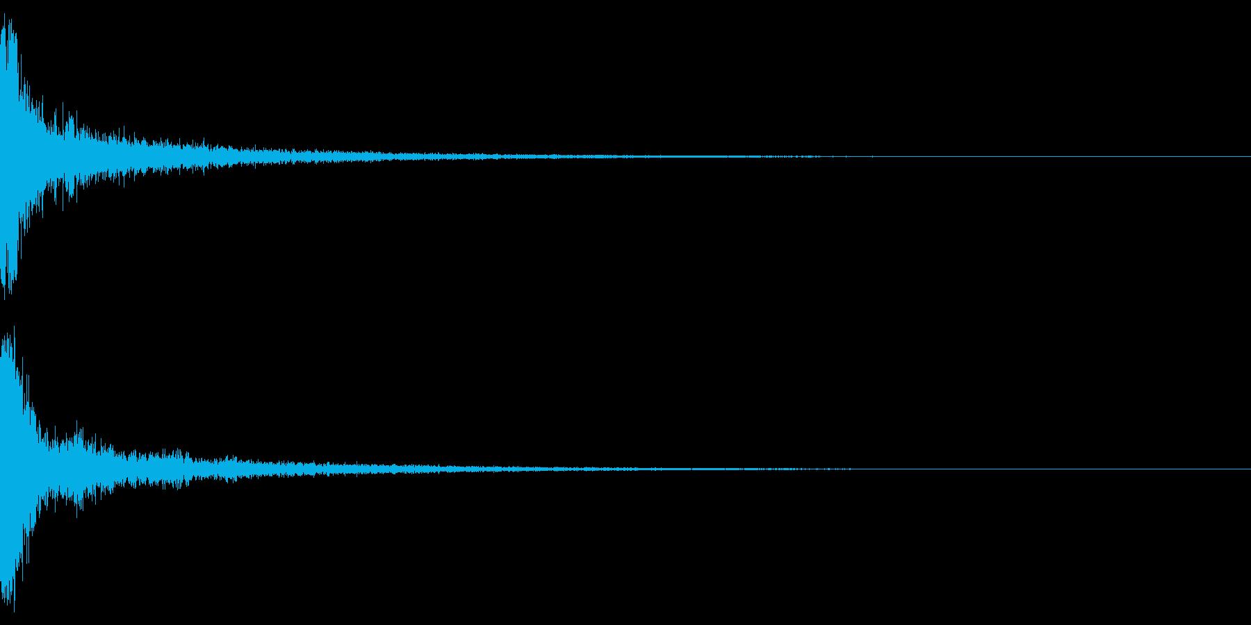 パーン(金属バットで野球の軟球を打つ音)の再生済みの波形