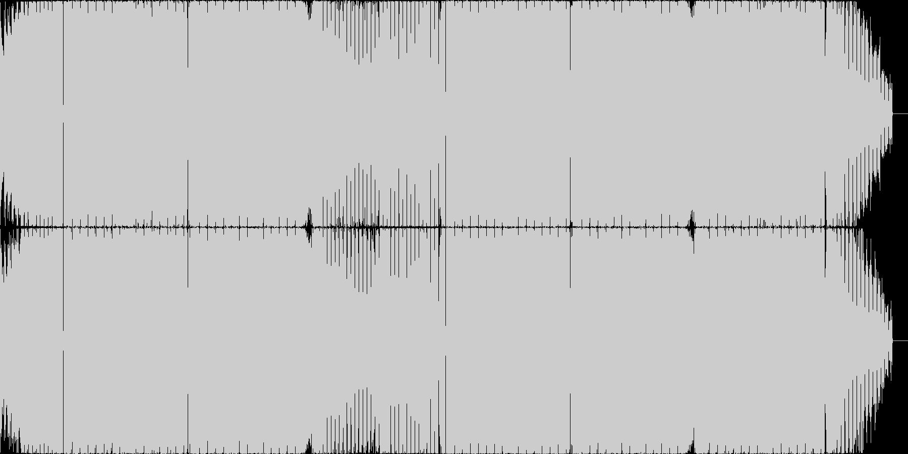 パワフルなシンセベースのデジタルロックの未再生の波形