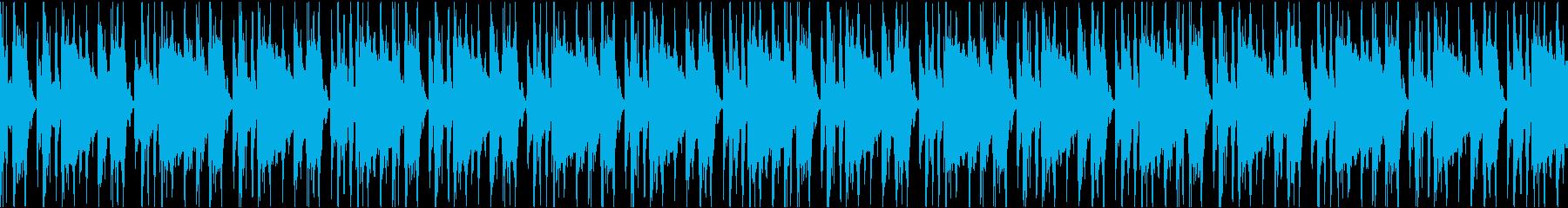 スピード感を演出したい時のドラムループの再生済みの波形