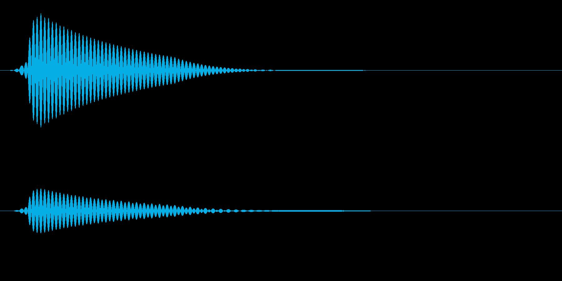 ポンッ(タムタム08)の再生済みの波形