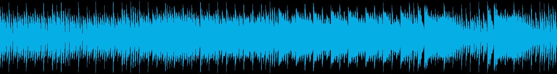 ループ・レトロゲーム風・ピンチを感じる曲の再生済みの波形