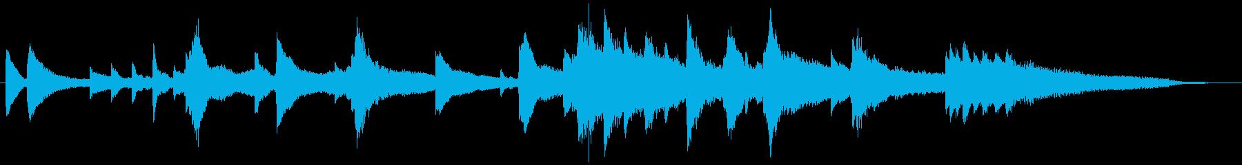 30秒CM/企業VP用。幻想的なピアノ曲の再生済みの波形