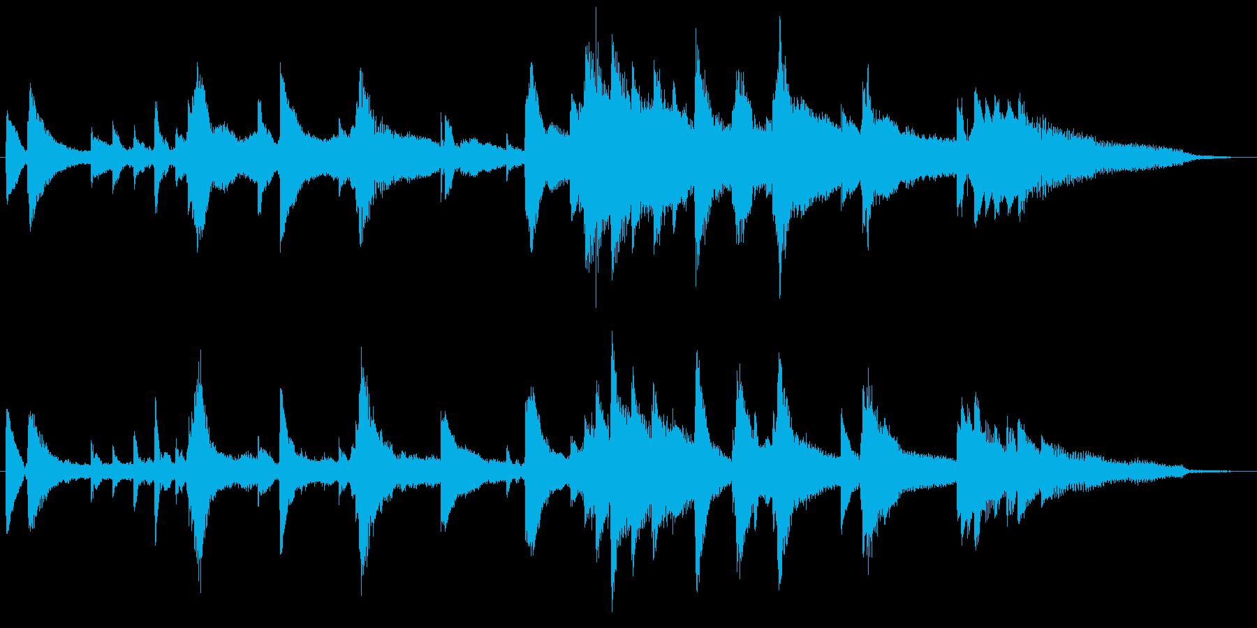 幻想的なピアノ曲。30秒CMや動画広告にの再生済みの波形