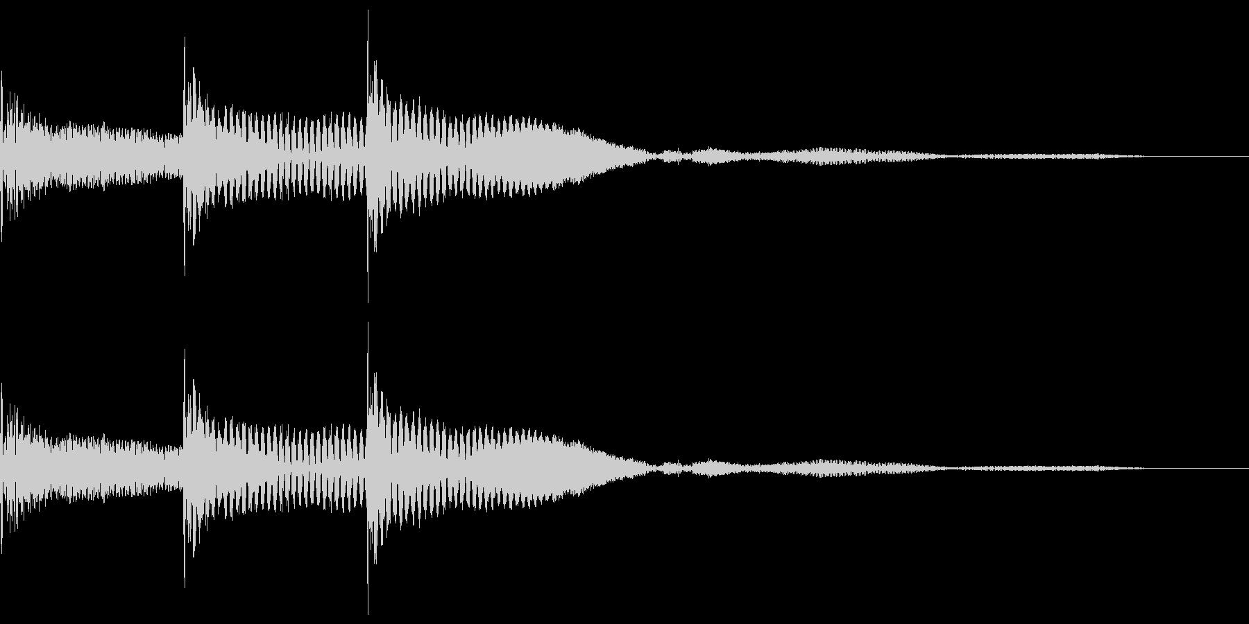 木琴で作った「決定」「選択」の効果音の未再生の波形