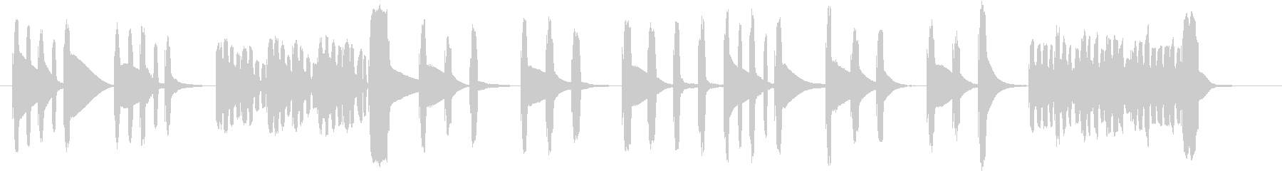ほのぼのした場面や回想シーンに使える曲の未再生の波形