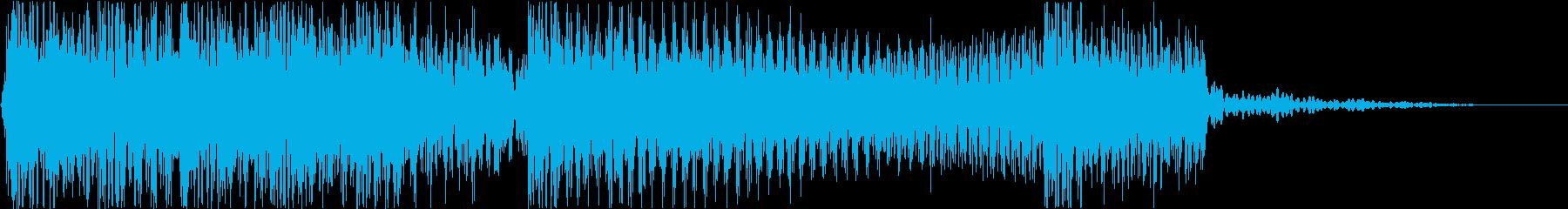 生演奏メタルギター疾走感ジングルバトルの再生済みの波形