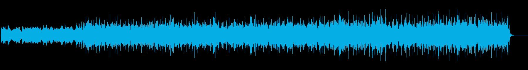 4つ打ちピコピコかっこいいBGMの再生済みの波形