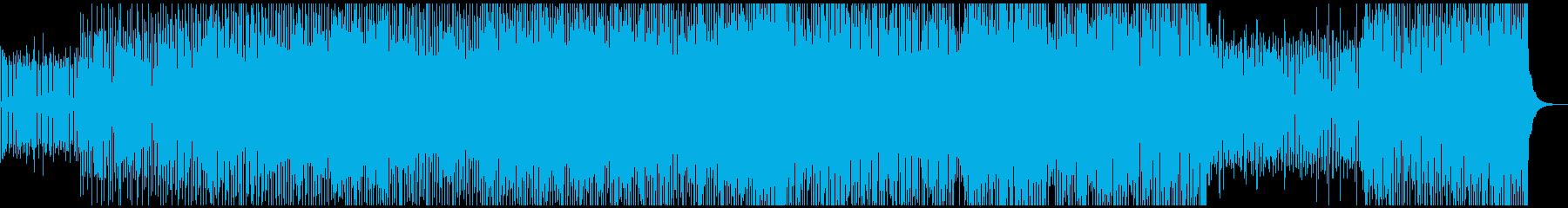 淡々と作業するイメージ、無機質なテクノの再生済みの波形
