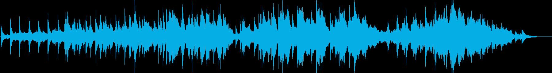 ピアノと弦楽器による静かなバラードの再生済みの波形