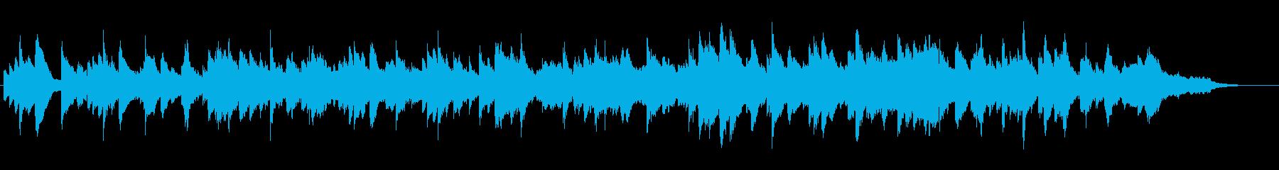 ピアノのメロディーの爽やかなBGMの再生済みの波形