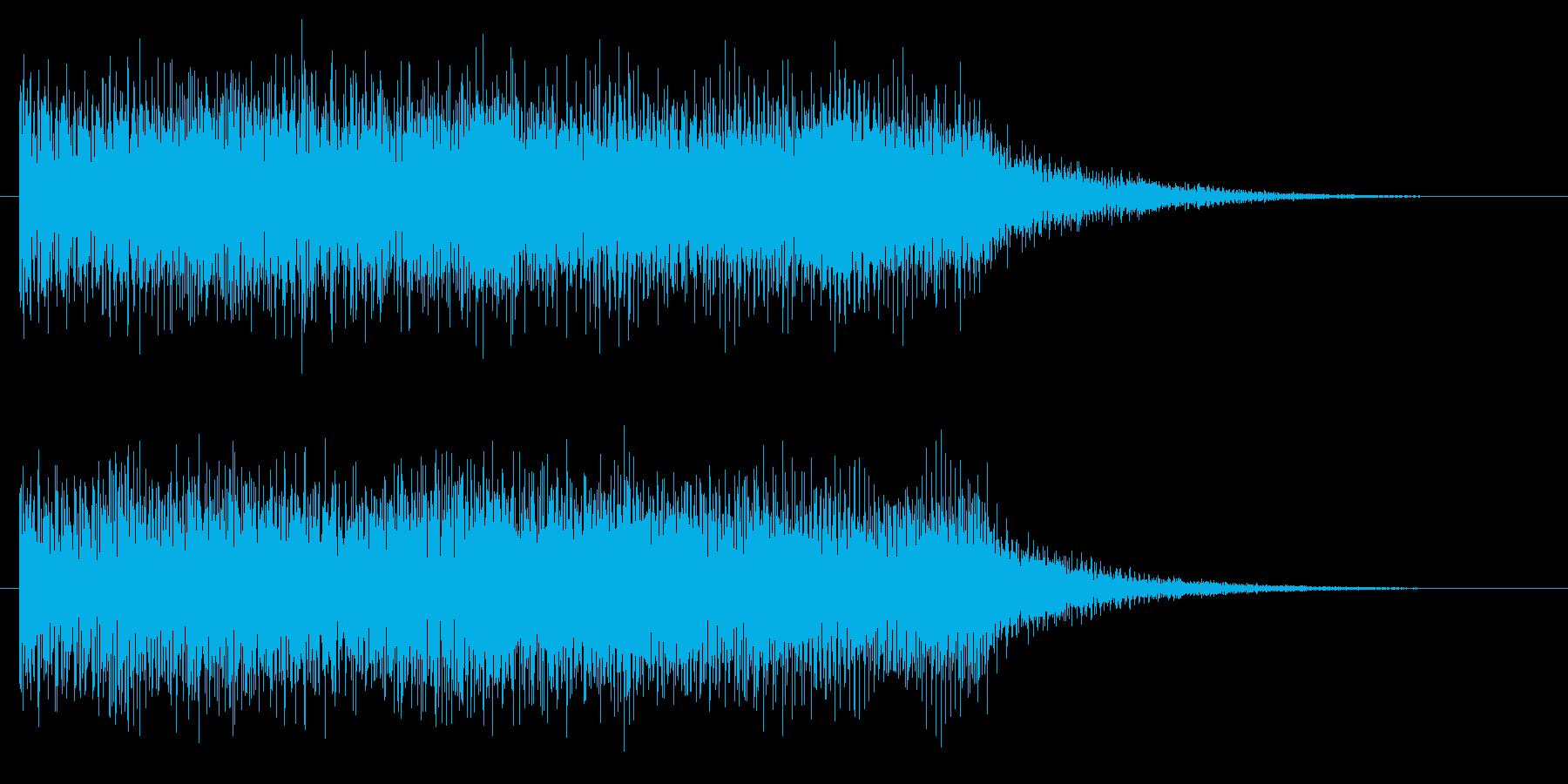 ステージクリア たらら 達成 正解 完了の再生済みの波形