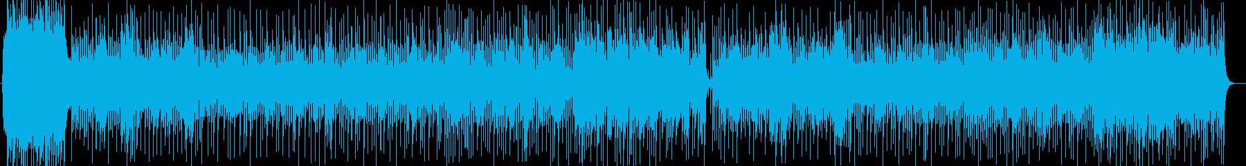華やかで盛大なシンセサイザーサウンドの再生済みの波形