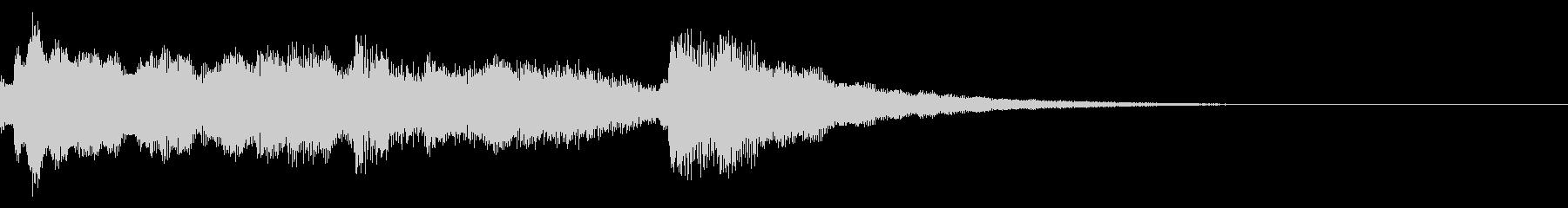 キラキラベルのおやすみジングルの未再生の波形