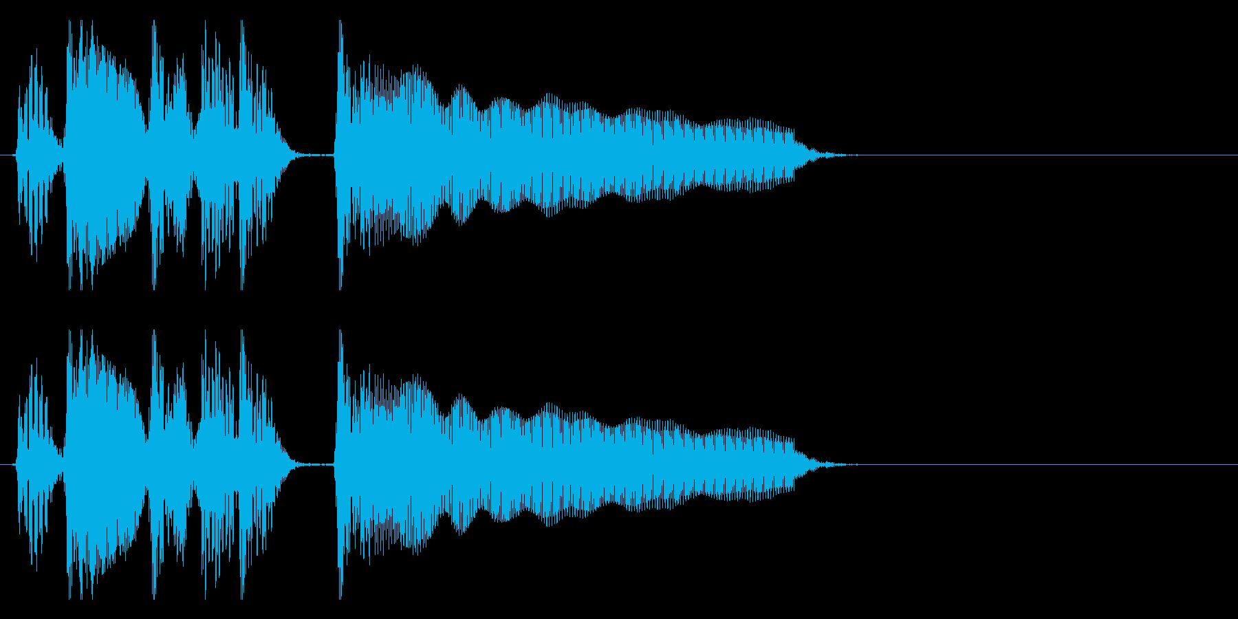 アップライトベース 場面切り替わる2の再生済みの波形