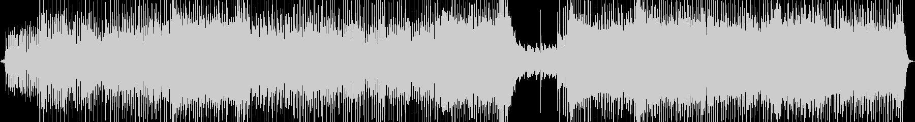 ロックバンド風カラオケ音源の未再生の波形