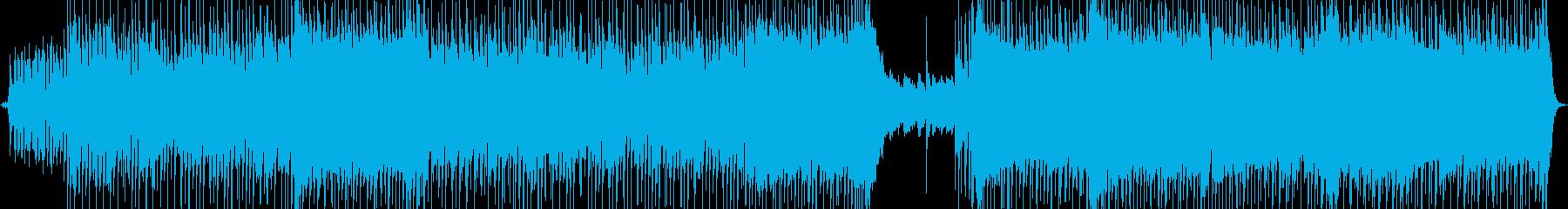 ロックバンド風カラオケ音源の再生済みの波形