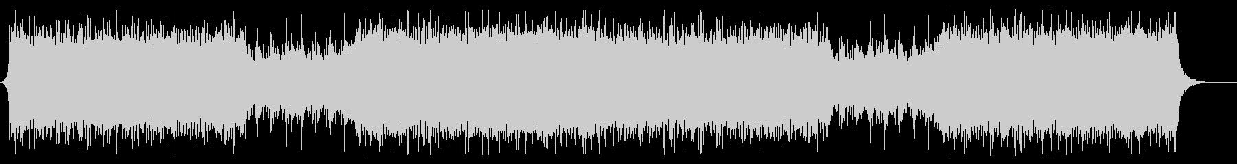 アグレッシブで疾走感のあるアクション音楽の未再生の波形