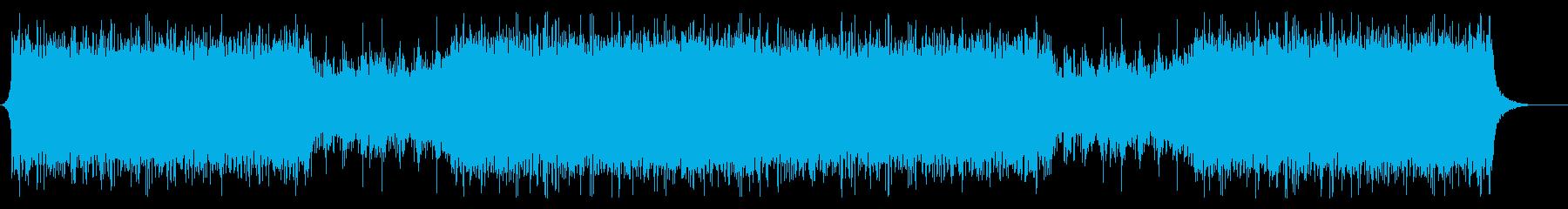 アグレッシブで疾走感のあるアクション音楽の再生済みの波形