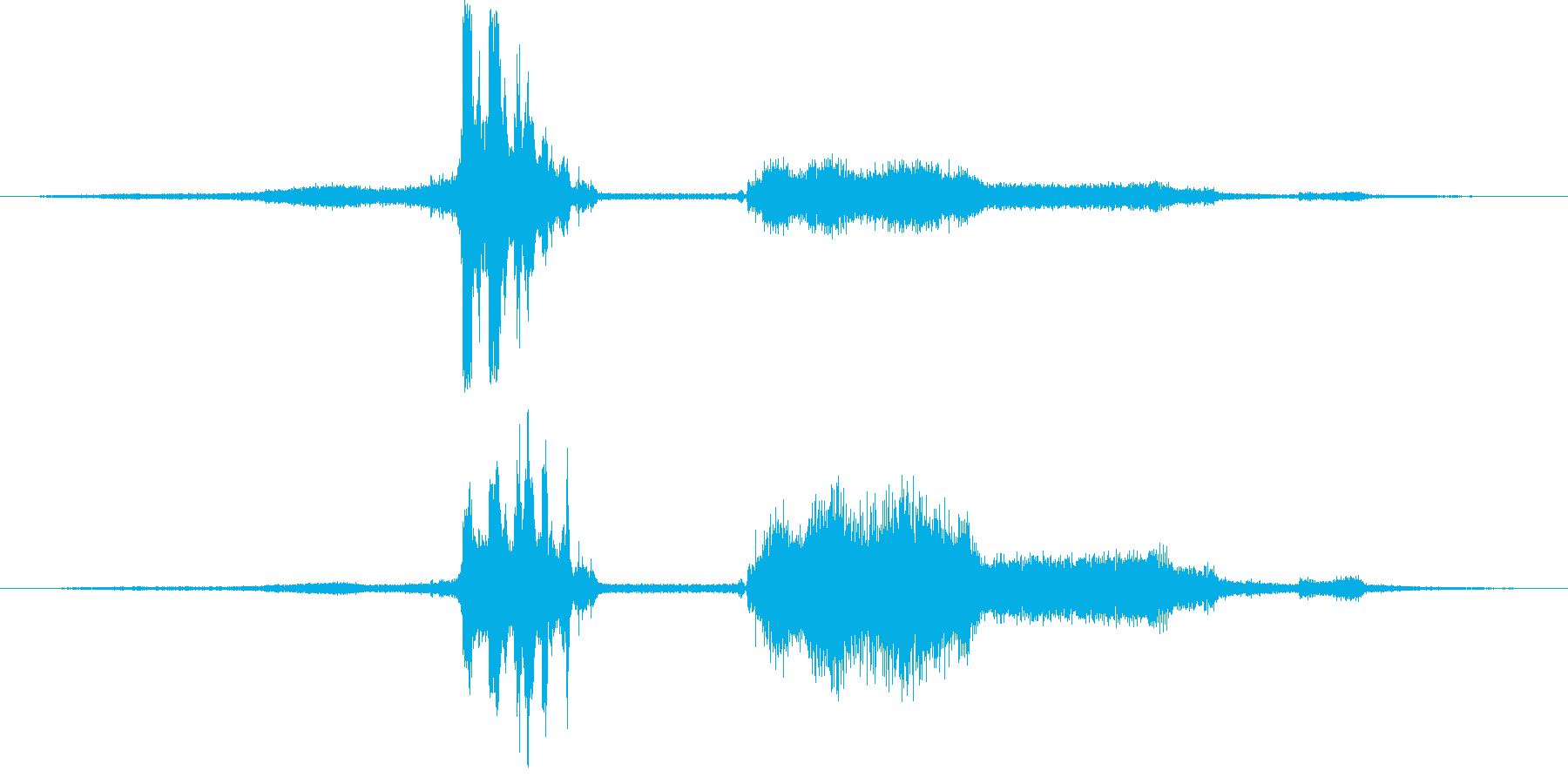 シボレーカマロ:Ext:高速で左に...の再生済みの波形