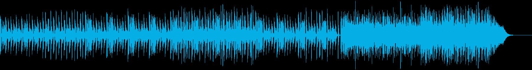 ドキュメンタリー向けハッピーなBGMの再生済みの波形