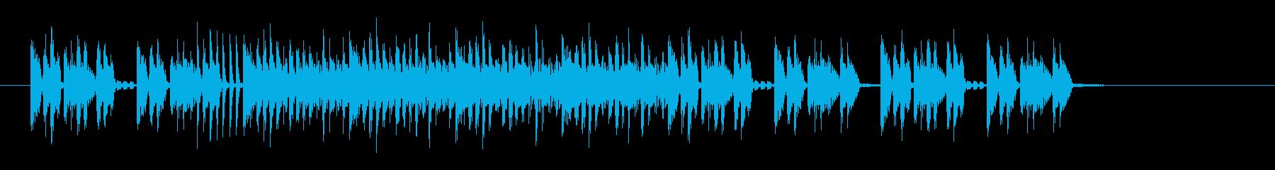 おしゃれな近未来感のあるシンセサウンドの再生済みの波形