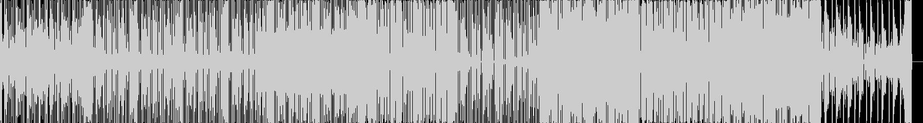 テクノ調のHIPHOPサウンドの未再生の波形