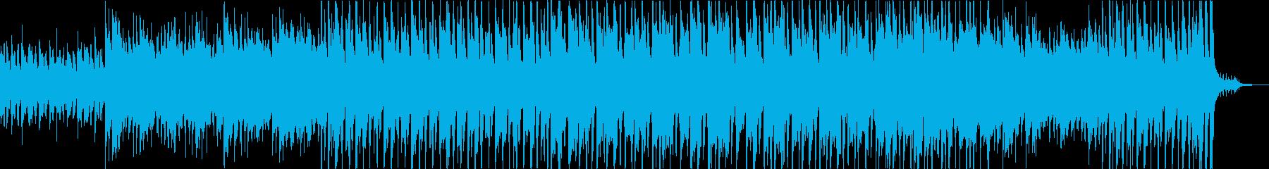 ピアノが中心の明るいポップスの再生済みの波形