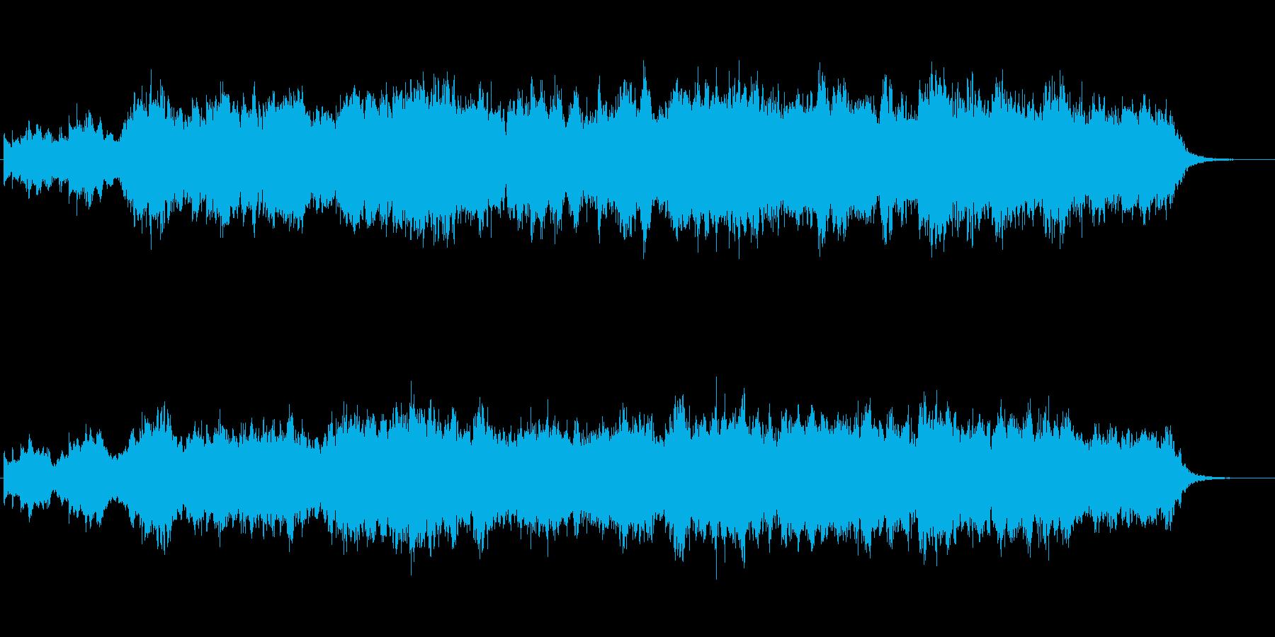 ハープとストリングスが印象的なジングルの再生済みの波形