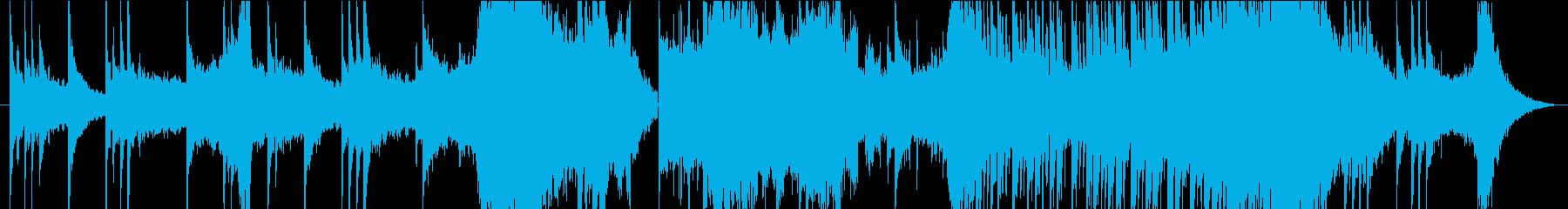 厳かな雰囲気の和風BGMの再生済みの波形