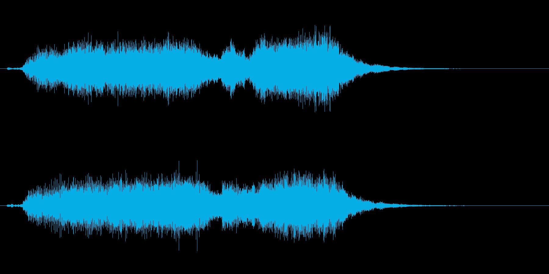 レアガチャオーケストラジングルの再生済みの波形
