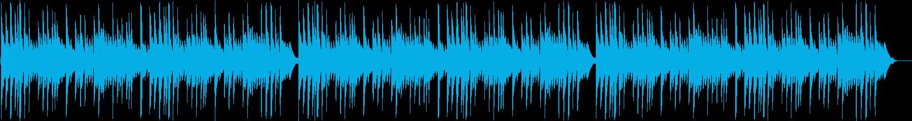 優しいシンセ・ピアノサウンドの再生済みの波形
