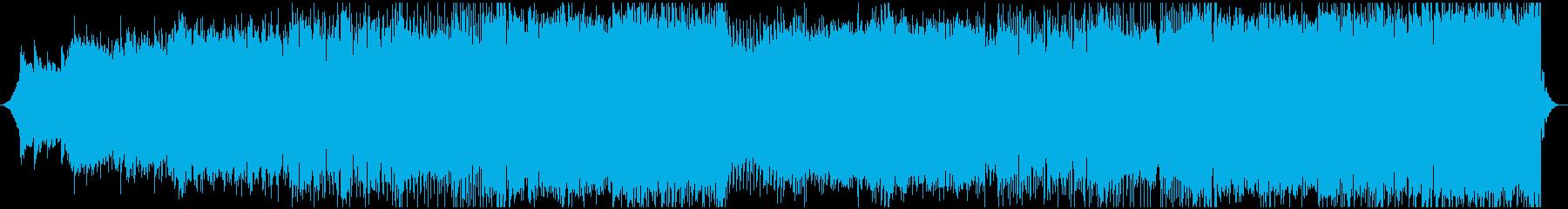 シンセリードメインのキレイめEDMの再生済みの波形