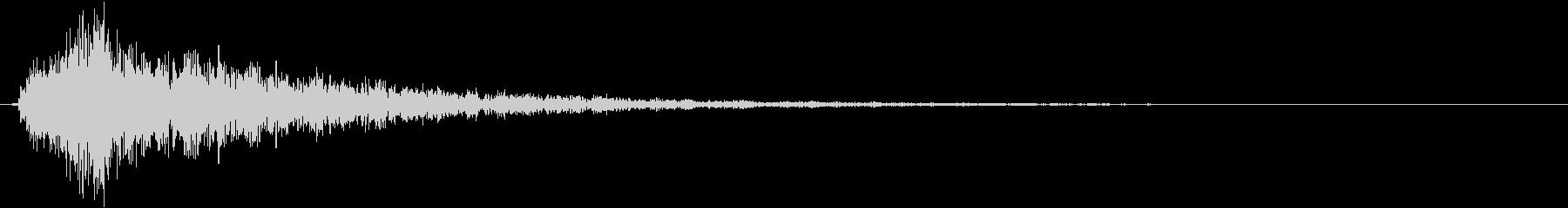 ベースインパクト;トーナルベル。の未再生の波形