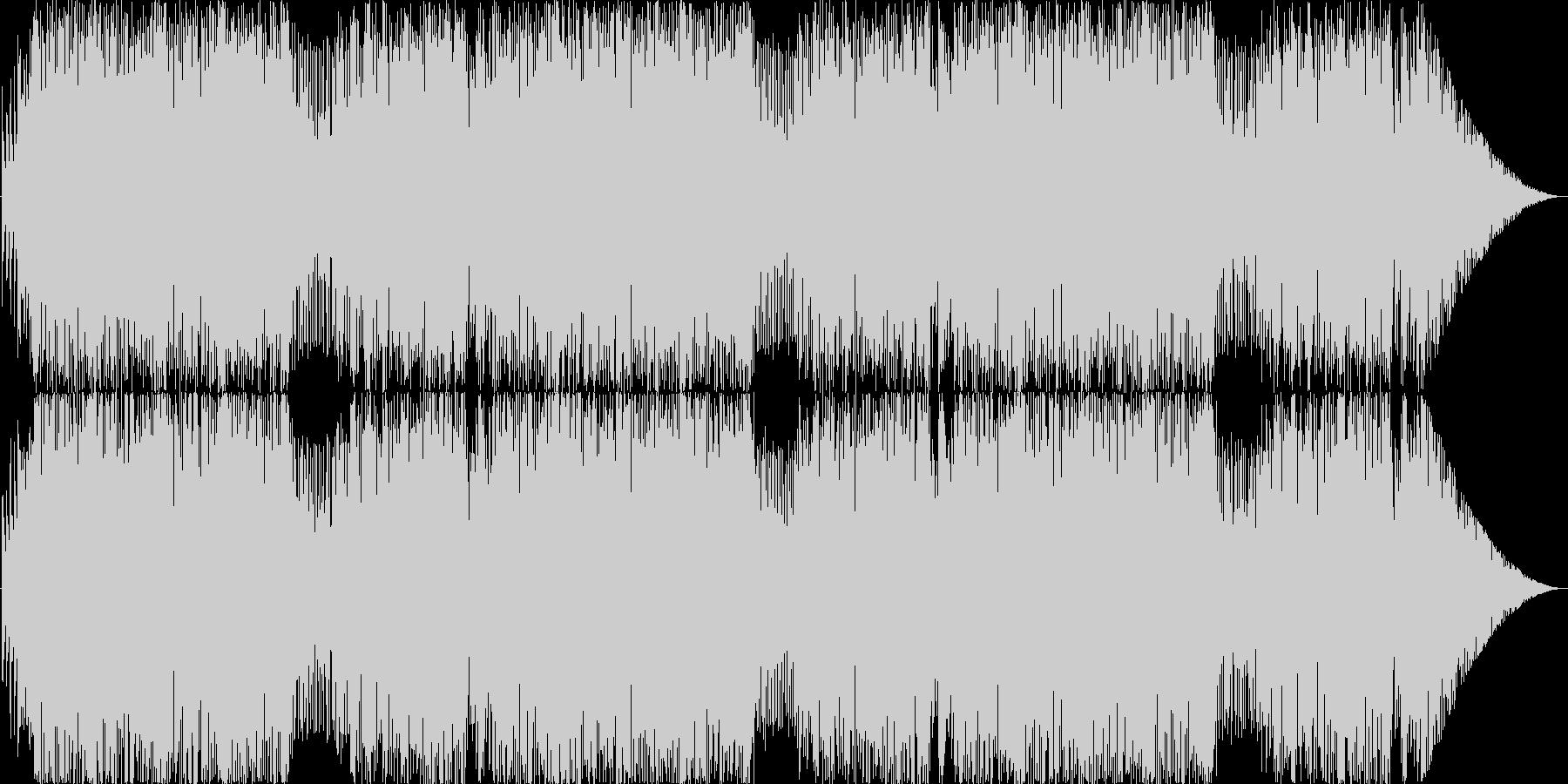 ビックバンド風カートゥーンなコミカル曲の未再生の波形