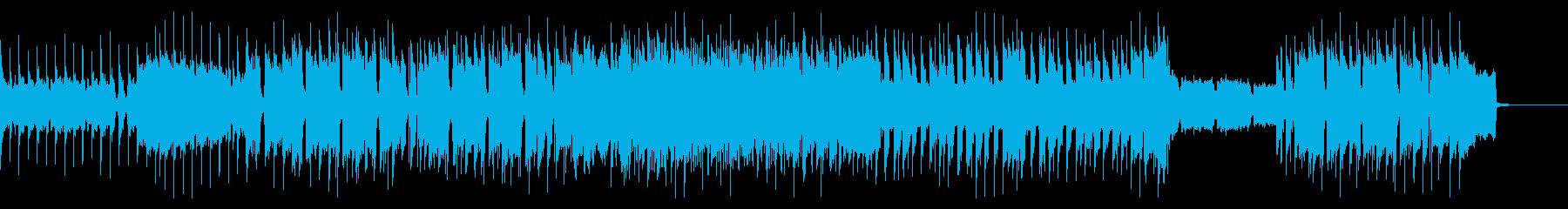 ザ・ロックなギターインストの再生済みの波形