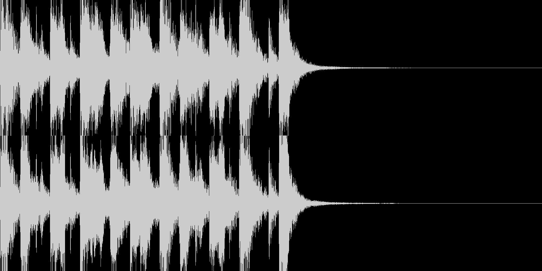 軽快なブラスのジングルの未再生の波形