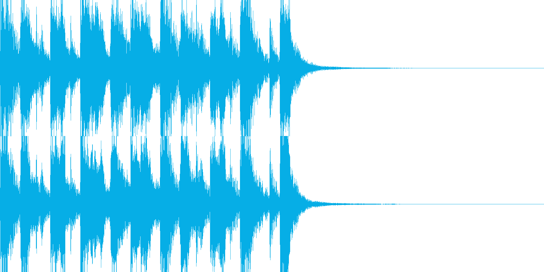 軽快なブラスのジングルの再生済みの波形