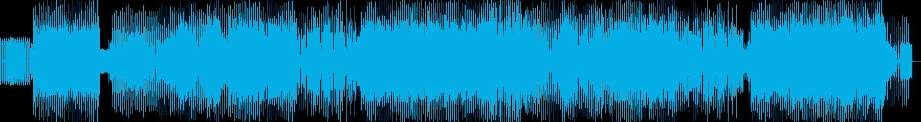 キュートでクールなテクノギターロックの再生済みの波形