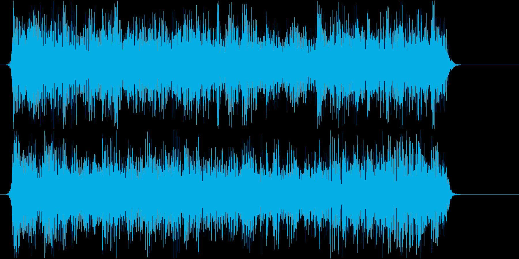悪者が現れそうなデジロックジングルの再生済みの波形