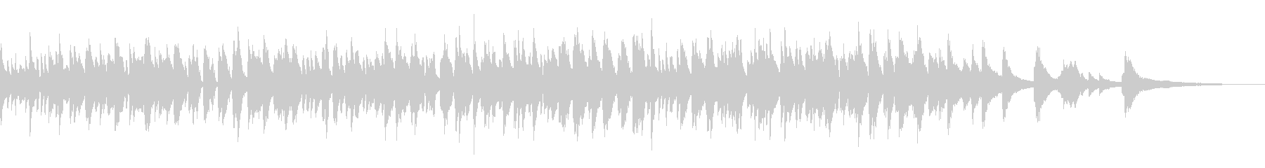 おしゃれなラウンジ風ボサノバピアノトリオの未再生の波形