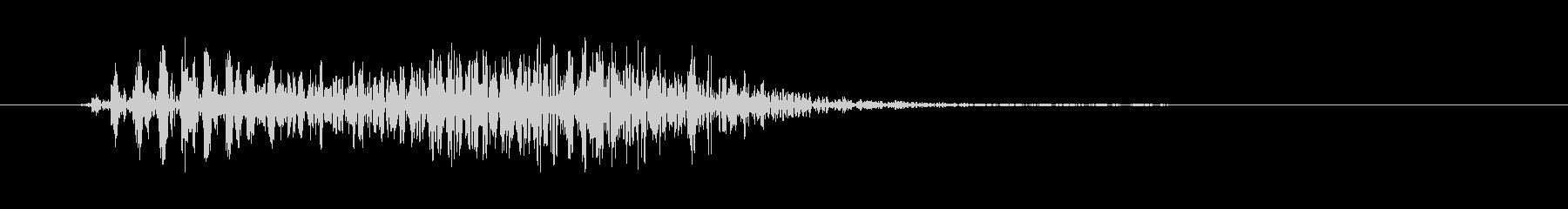 ゾンビの発声に 6の未再生の波形